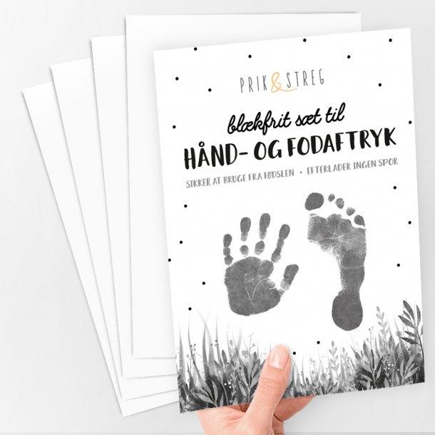Aftrykssæt til hånd og fod - Sort - Prik & Streg