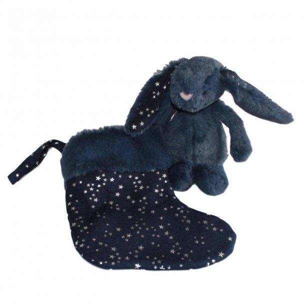 Jellycat bashful stjernestøv kanin med julesok