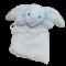 Jellycat - Bashful blue bunny muslin soother nusseklud