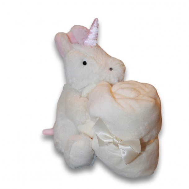 Jellycat - Bashful unicorn soother/enhjørning nusseklud