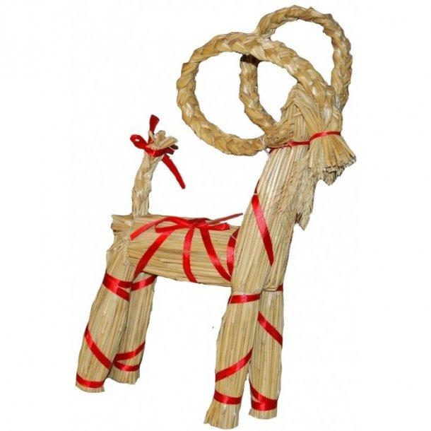 Mellem julebuk med bånd 40 cm