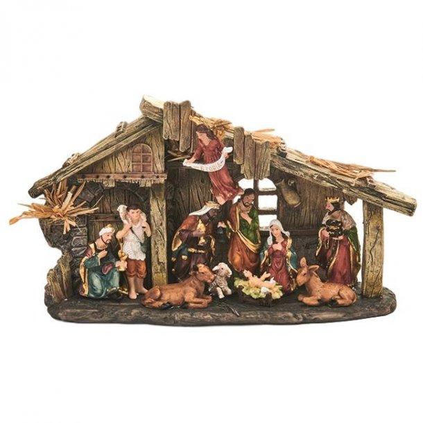 Julekrybbe med 11 figurer
