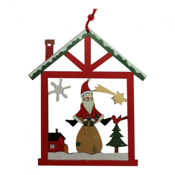 Juleophæng i træ - nisse og julesæk
