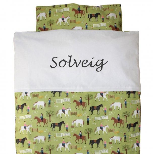 Juniorsengetøj -  med heste