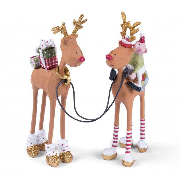 Rudolf sæt af 2 stk. fra Medusa-Copenhagen
