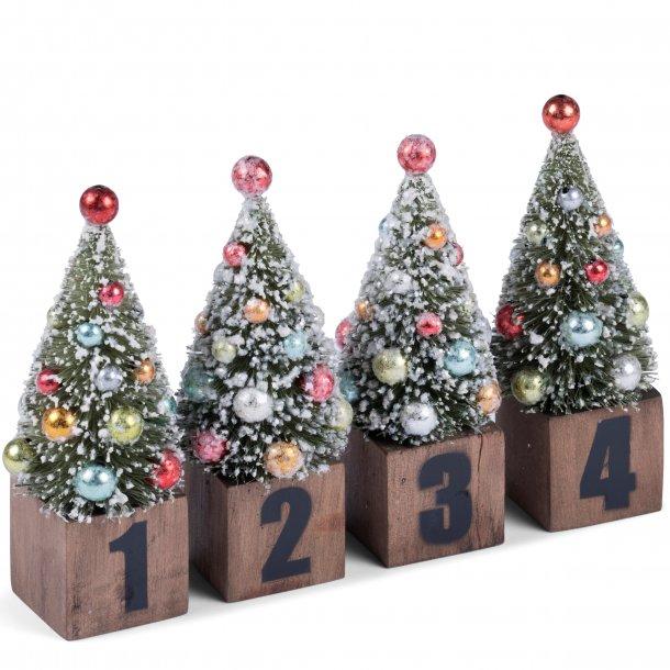 Advents juletræer 4 stk. fra Medusa-Copenhagen