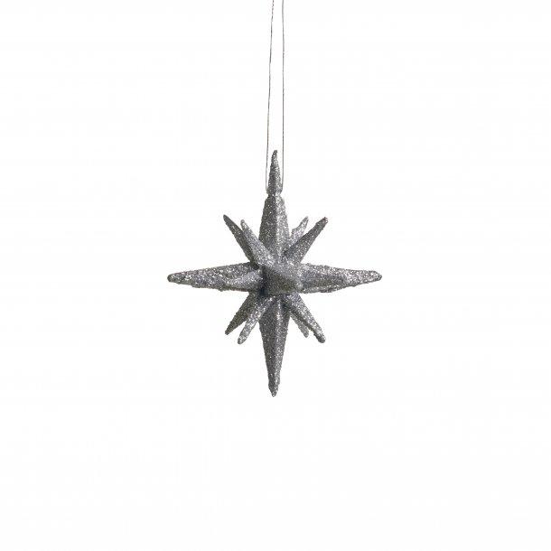 Julestjerner sølv 4 stk. 7,5 cm fra Medusa-Copenhagen