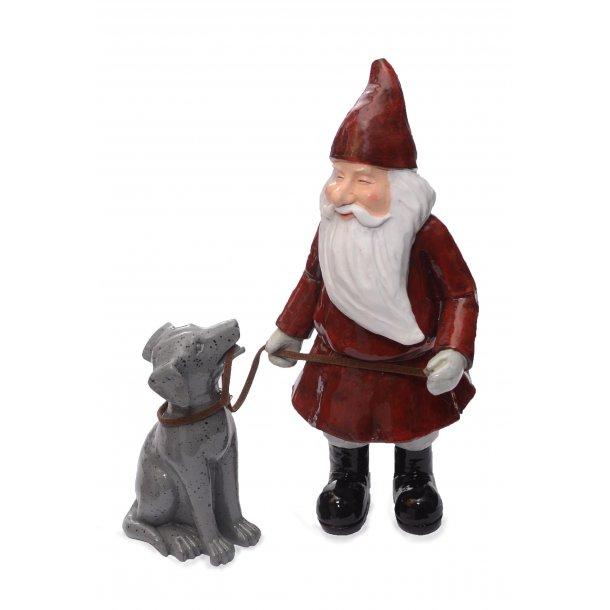 Nissefar med hund