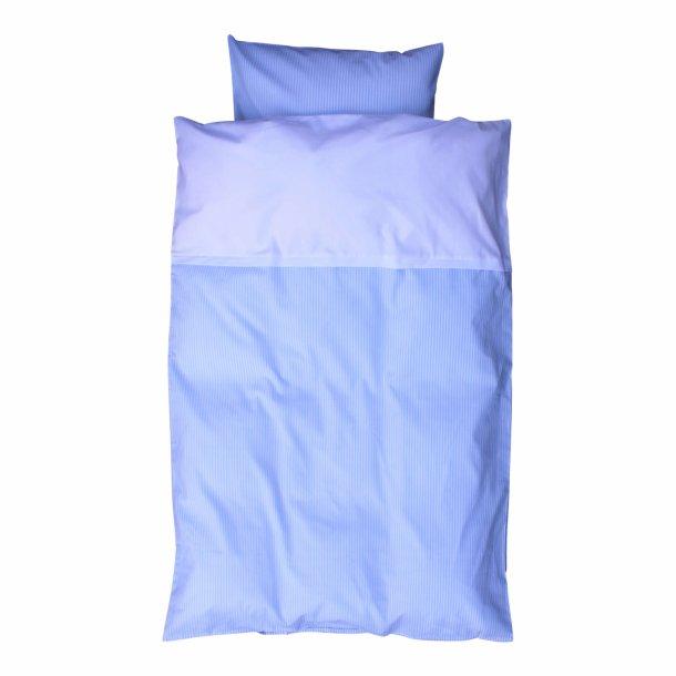 Babysengetøj - Stribet lyseblå