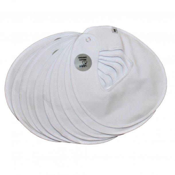 Savlesmække runde 10 stk. hvide