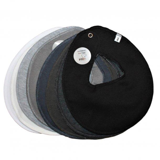 Savlesmække runde 10 stk. hvid-grå-sort