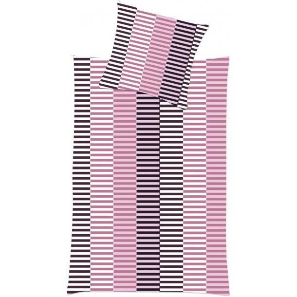 Babysengetøj med rosa striber
