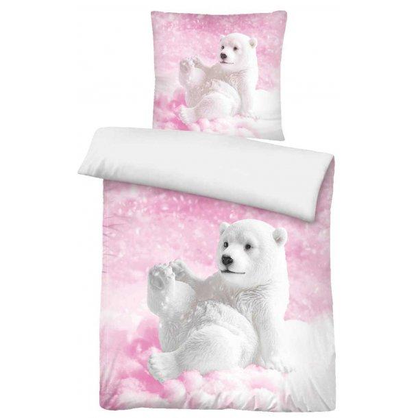 Babysengetøj  - Isbjørneunge -  Lyserød