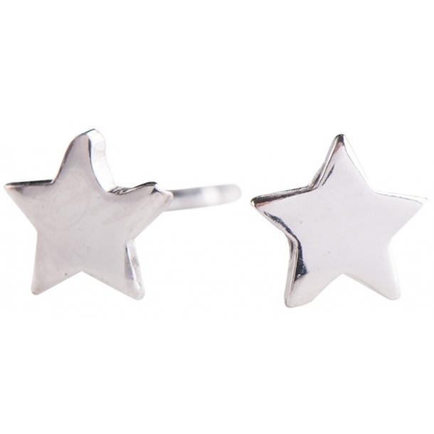 Nordahl Andersen - Stjerne sølv ørestikker blank