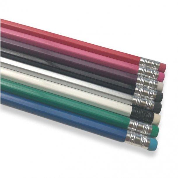 Blyanter med navn - 6 stk - bland selv farver
